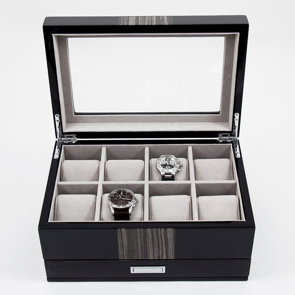 Lacquered Wenge Wood Watch Storage Box