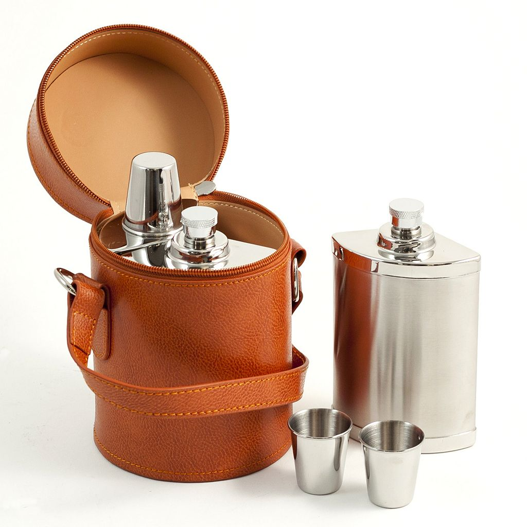 6-pc. Stainless Steel Flask Set