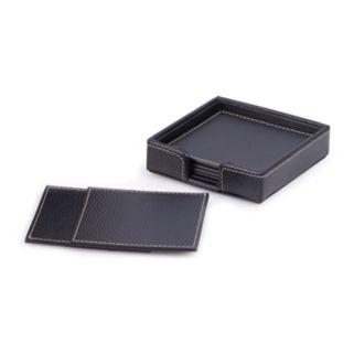 6-pc. Leather Coaster Set