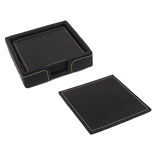 6-pc. Leather Coaster Set