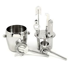7 pc Stainless Steel Bar Accessory Set