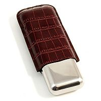 Crocodile Double Cigar Case