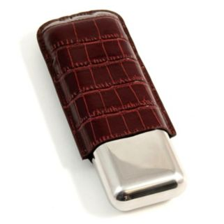 Crocodile Double Cigar Case