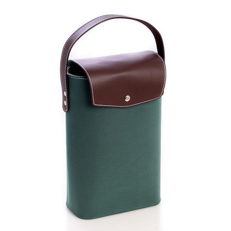 Ultrasuede Double Wine Carrier, Green