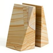 Marble Wedge Book Ends