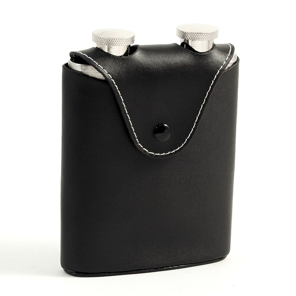 Bey-Berk Dual Flasks With Carrying Case