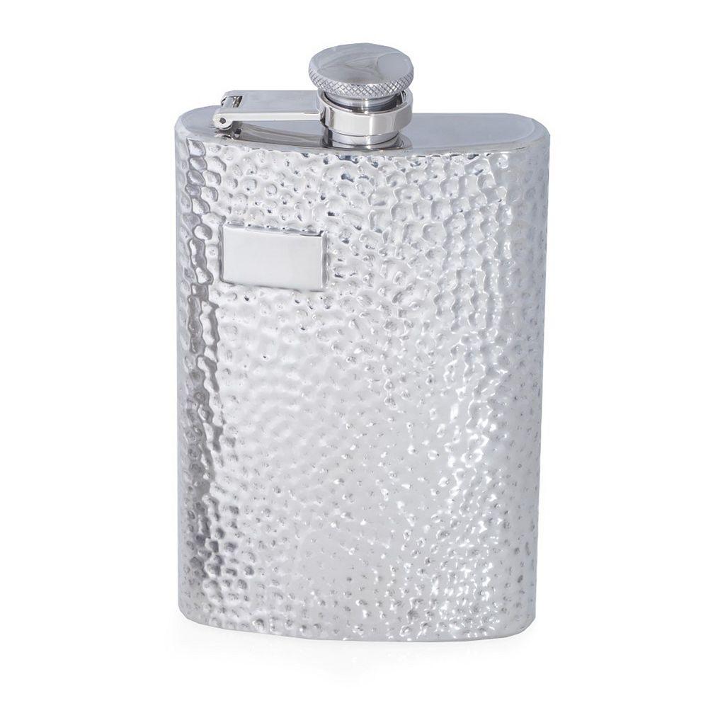 Bey-Berk Hammered-Finish Flask