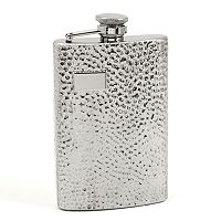 Bey-Berk Hammered-Finish Flask
