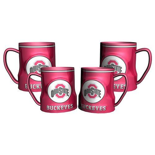 Ohio State Buckeyes 4-pc. Game Time Mug Set