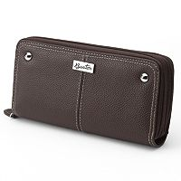 Buxton Westcott Slim Double-Zip Leather Wallet