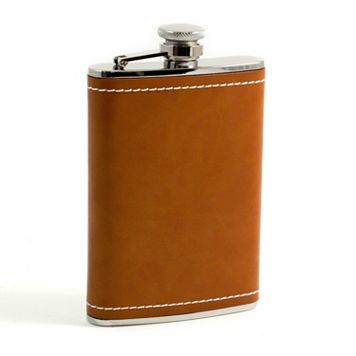Bey-Berk Stitched Leather Flask