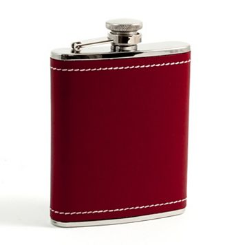 Bey-Berk Red Leather Flask