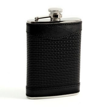 Bey-Berk Woven Leather Flask