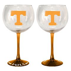 Tennessee Volunteers 2 pc Wine Glass Set
