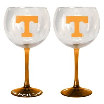 Tennessee Volunteers 2-pc. Wine Glass Set