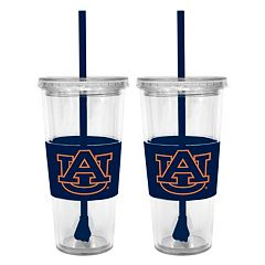 Auburn Tigers 2-pc. Double-Walled Straw Tumbler Set