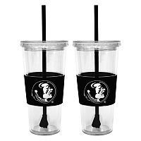 Florida State Seminoles 2-pc. Double-Walled Straw Tumbler Set