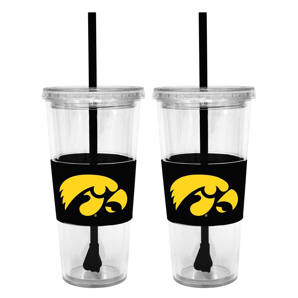 Iowa Hawkeyes 2-pc. Double-Walled Straw Tumbler Set