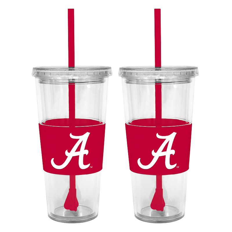 Alabama Crimson Tide 2-pc. Double-Walled Straw Tumbler Set