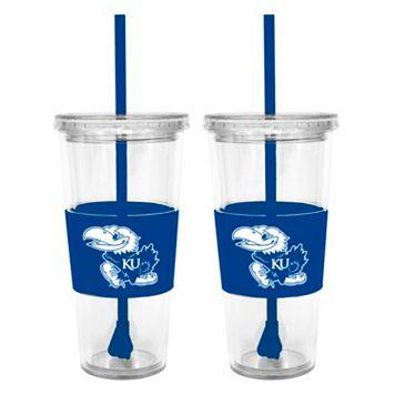 Kansas Jayhawks 2-pc. Double-Walled Straw Tumbler Set