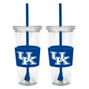 Kentucky Wildcats 2 pc Double-Walled Straw Tumbler Set