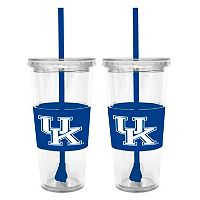 Kentucky Wildcats 2 pc Double-Walled Straw Tumbler Set
