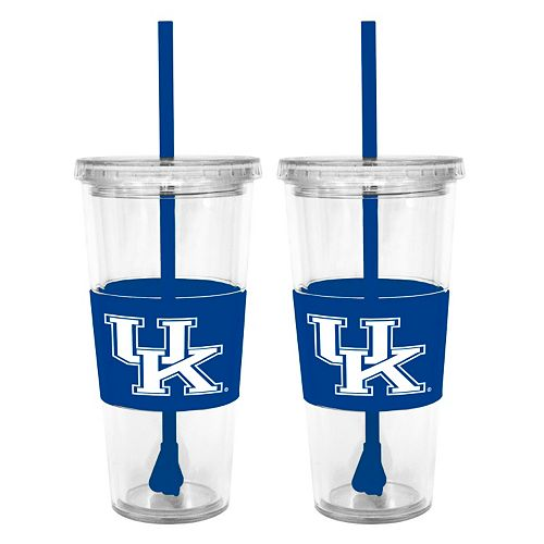 Kentucky Wildcats 2-pc. Double-Walled Straw Tumbler Set