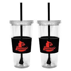 Louisville Cardinals 2-pc. Double-Walled Straw Tumbler Set