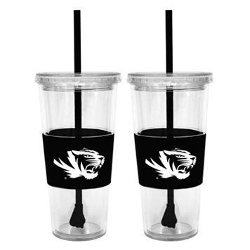 Missouri Tigers 2-pc. Double-Walled Straw Tumbler Set