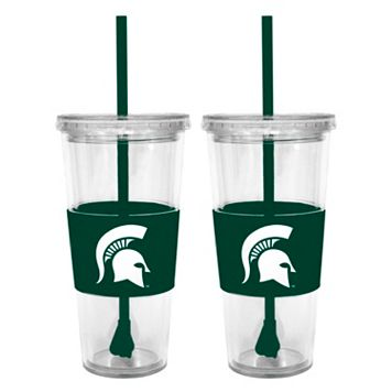 Michigan State Spartans 2-pc. Double-Walled Straw Tumbler Set