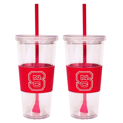 North Carolina State Wolfpack 2-pc. Double-Walled Straw Tumbler Set