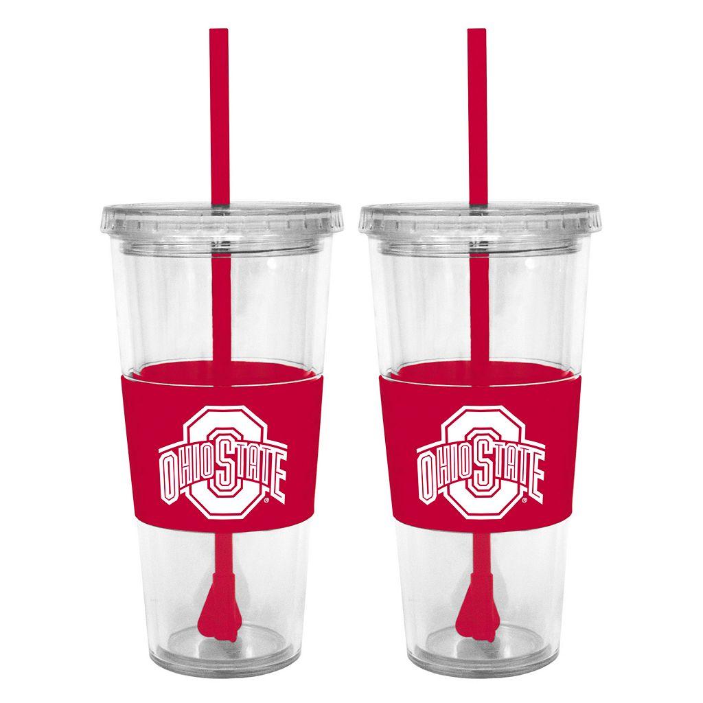 Ohio State Buckeyes 2-pc. Double-Walled Straw Tumbler Set