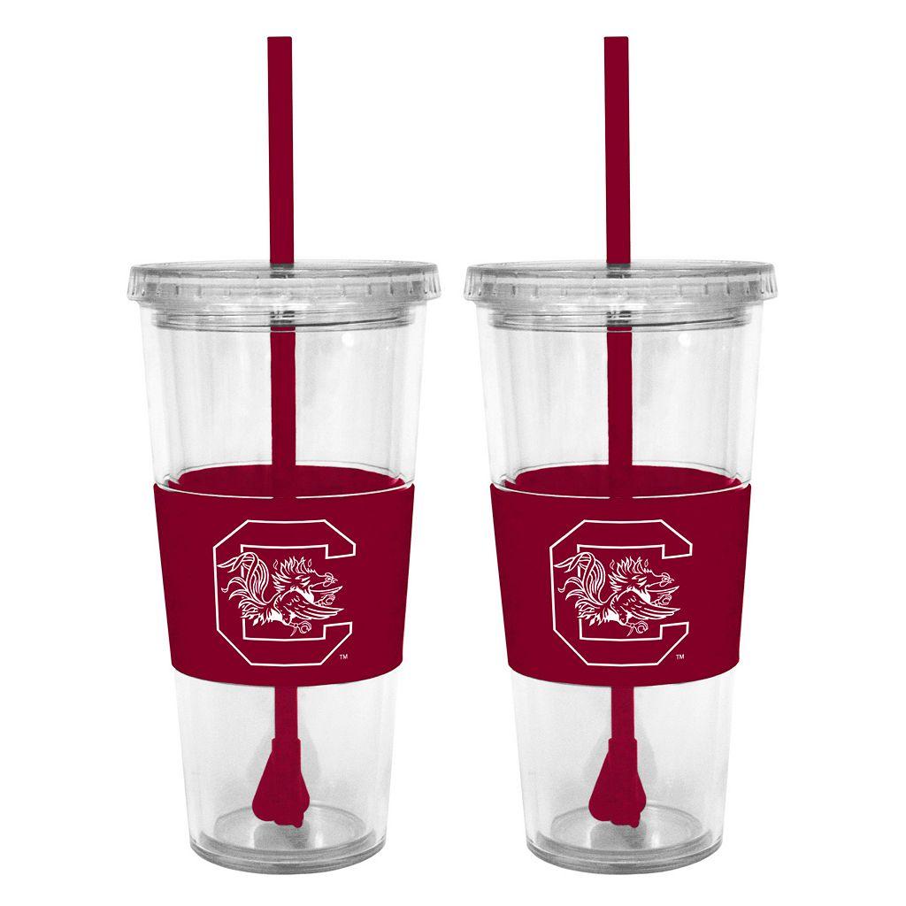 South Carolina Gamecocks 2-pc. Double-Walled Straw Tumbler Set