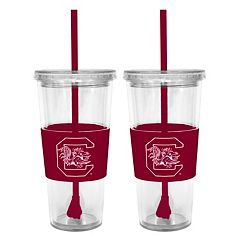 South Carolina Gamecocks 2-pc. Double-Walled Straw Tumbler Set