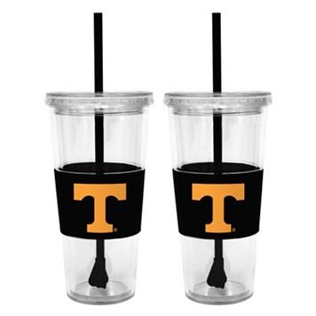 Tennessee Volunteers 2-pc. Double-Walled Straw Tumbler Set