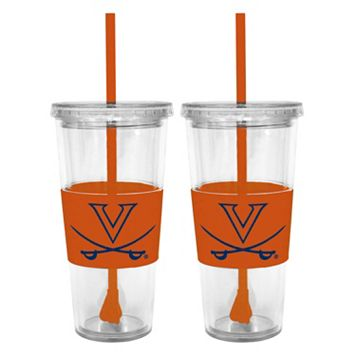 Virginia Cavaliers 2-pc. Double-Walled Straw Tumbler Set