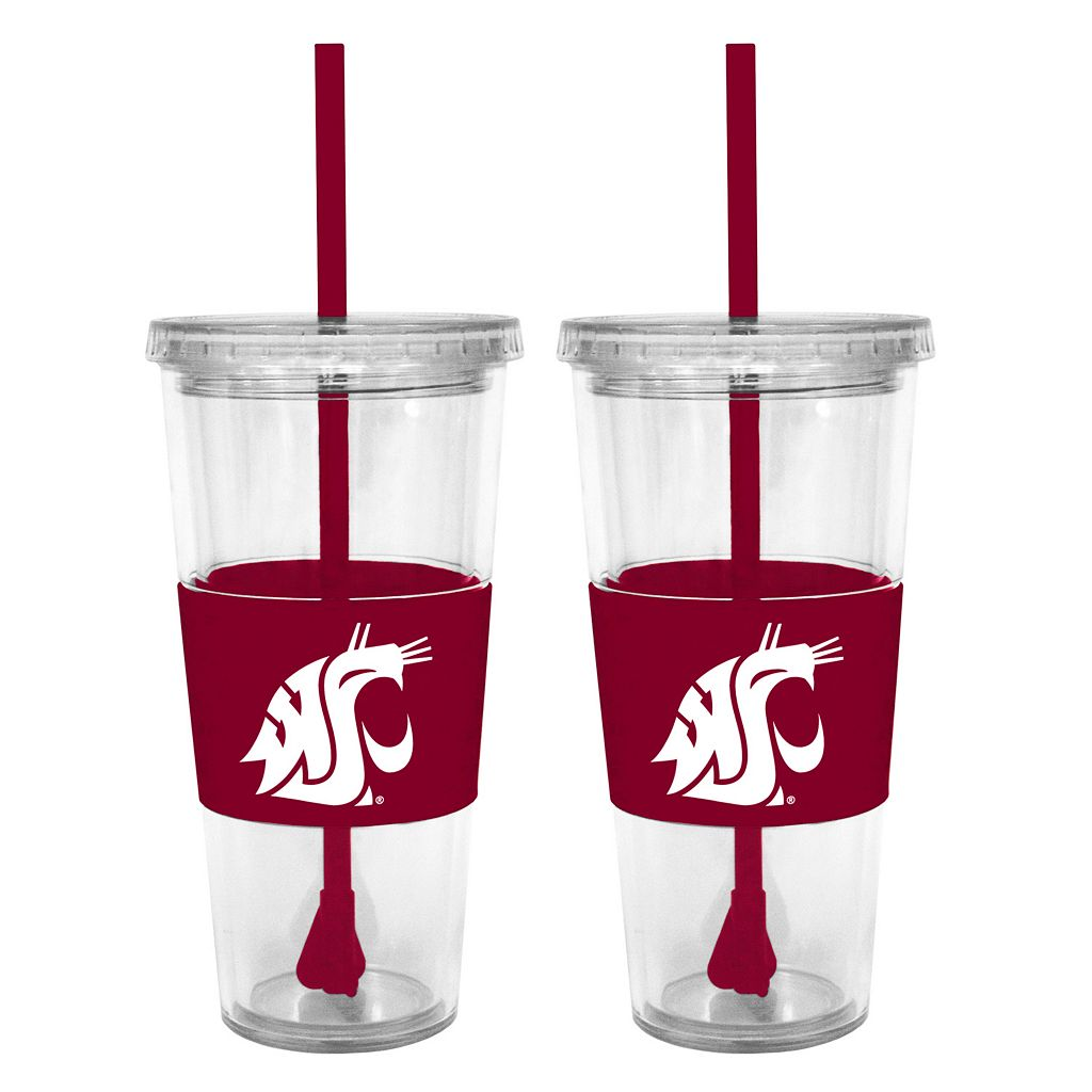 Washington State Cougars 2-pc. Double-Walled Straw Tumbler Set