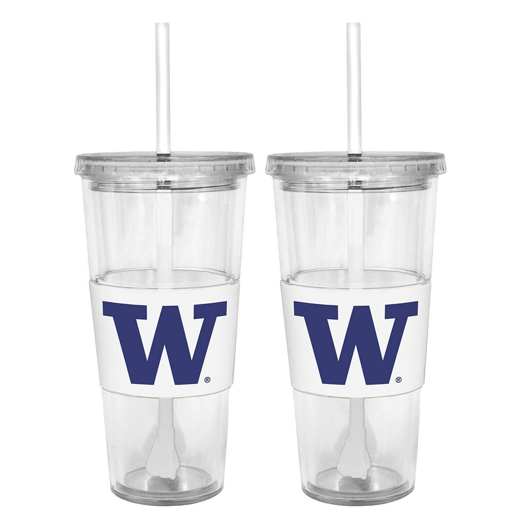 Washington Huskies 2-pc. Double-Walled Straw Tumbler Set