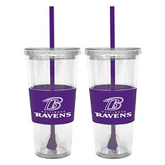 Baltimore Ravens 2-pc. Double-Walled Straw Tumbler Set