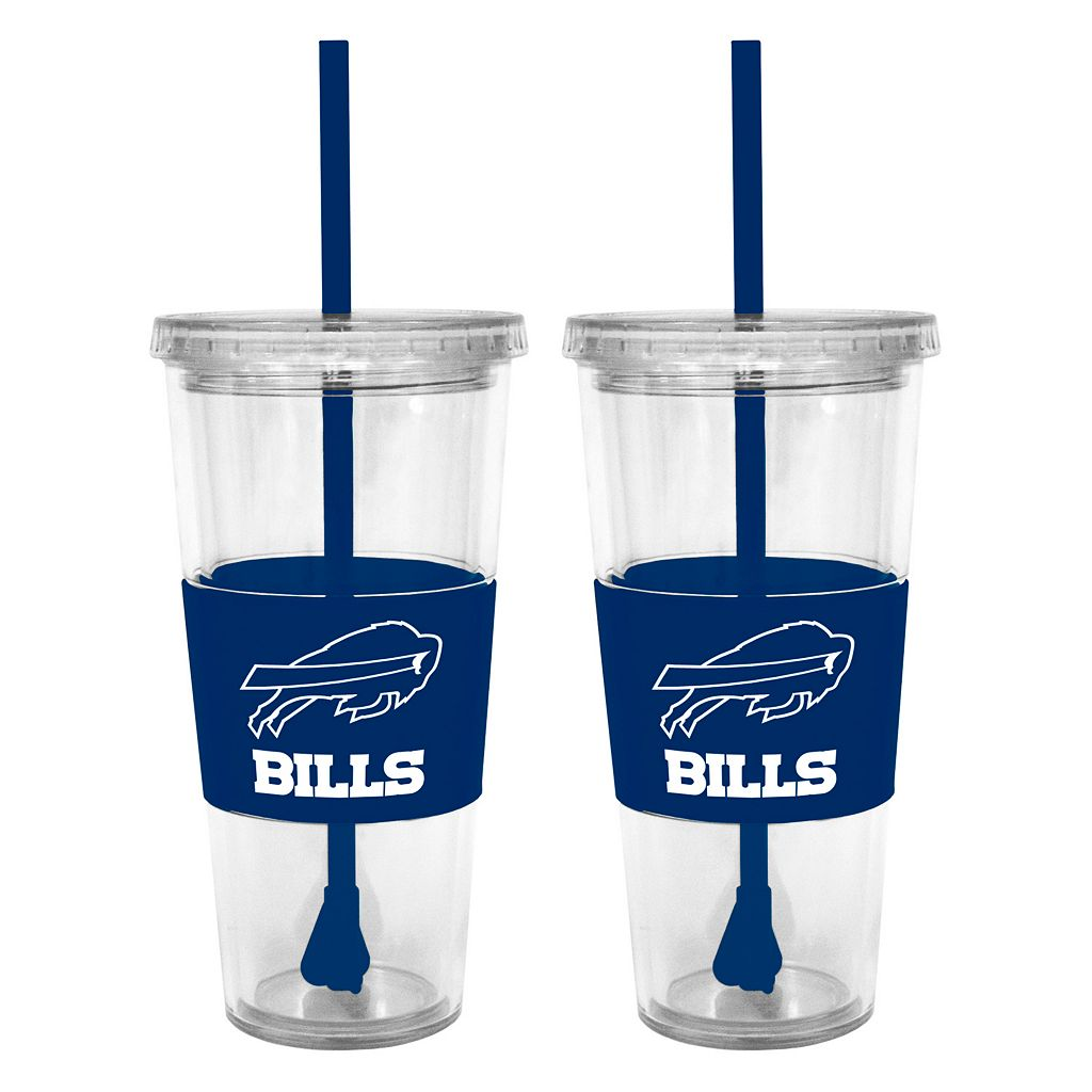 Buffalo Bills 2-pc. Double-Walled Straw Tumbler Set