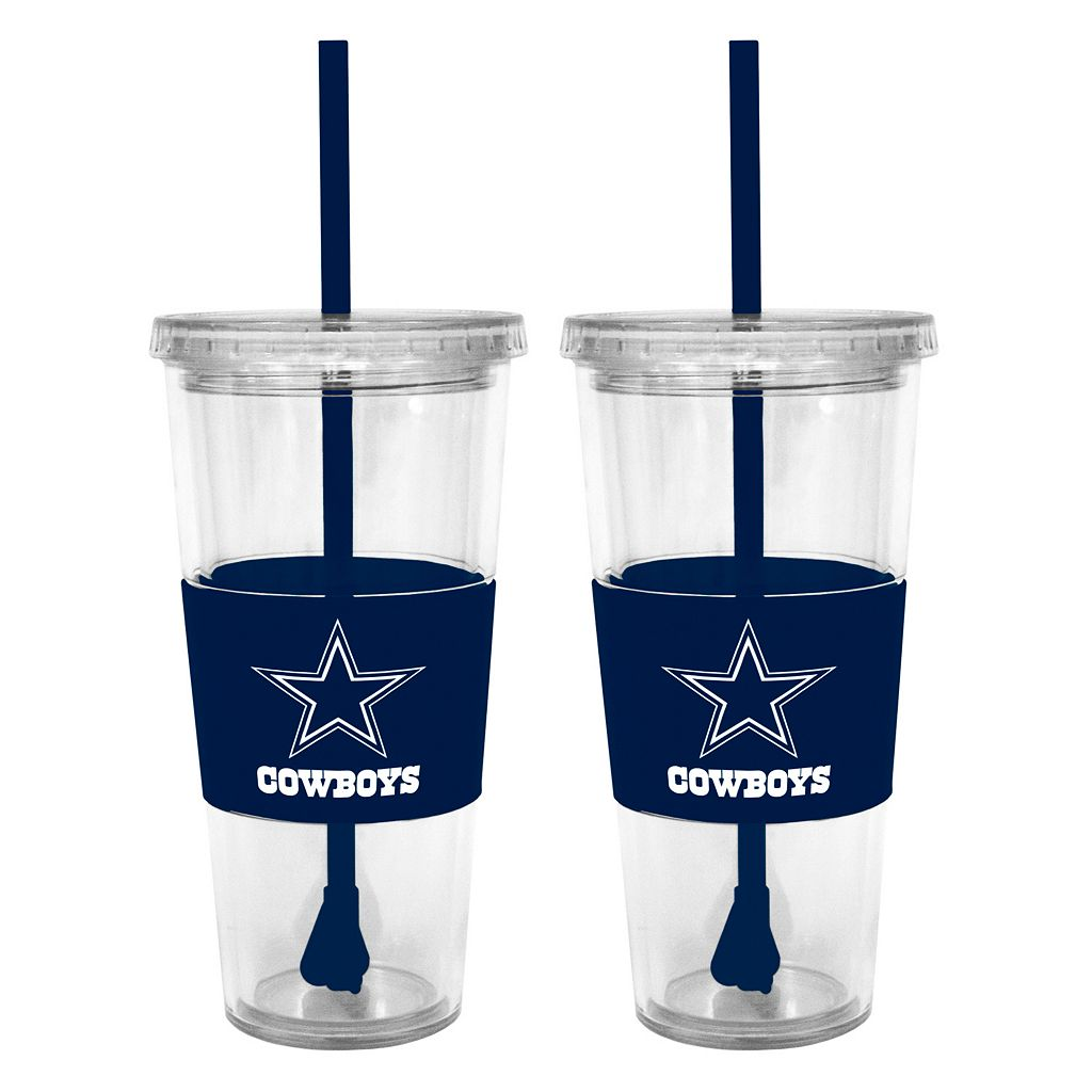 Dallas Cowboys 2-pc. Double-Walled Straw Tumbler Set
