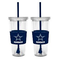 Dallas Cowboys 2-pc. Double-Walled Straw Tumbler Set