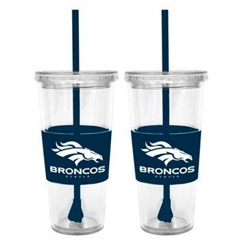 Denver Broncos 2-pc. Double-Walled Straw Tumbler Set