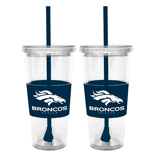 Denver Broncos 2-pc. Double-Walled Straw Tumbler Set