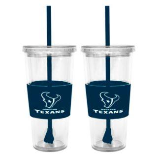 Houston Texans 2-pc. Double-Walled Straw Tumbler Set