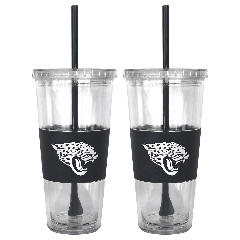 Jacksonville Jaguars 2-pc. Double-Walled Straw Tumbler Set