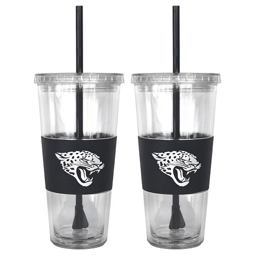 Jacksonville Jaguars 2-pc. Double-Walled Straw Tumbler Set