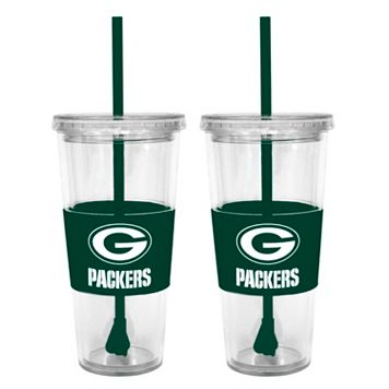 Green Bay Packers 2-pc. Double-Walled Straw Tumbler Set