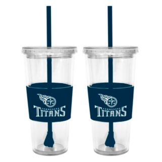 Tennessee Titans 2-pc. Double-Walled Straw Tumbler Set