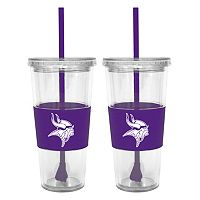 Minnesota Vikings 2-pc. Double-Walled Straw Tumbler Set